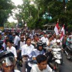 Aksi unjuk rasa mewarnai jalannya rekapitulasi hasil penghitungan dan perolehan suara