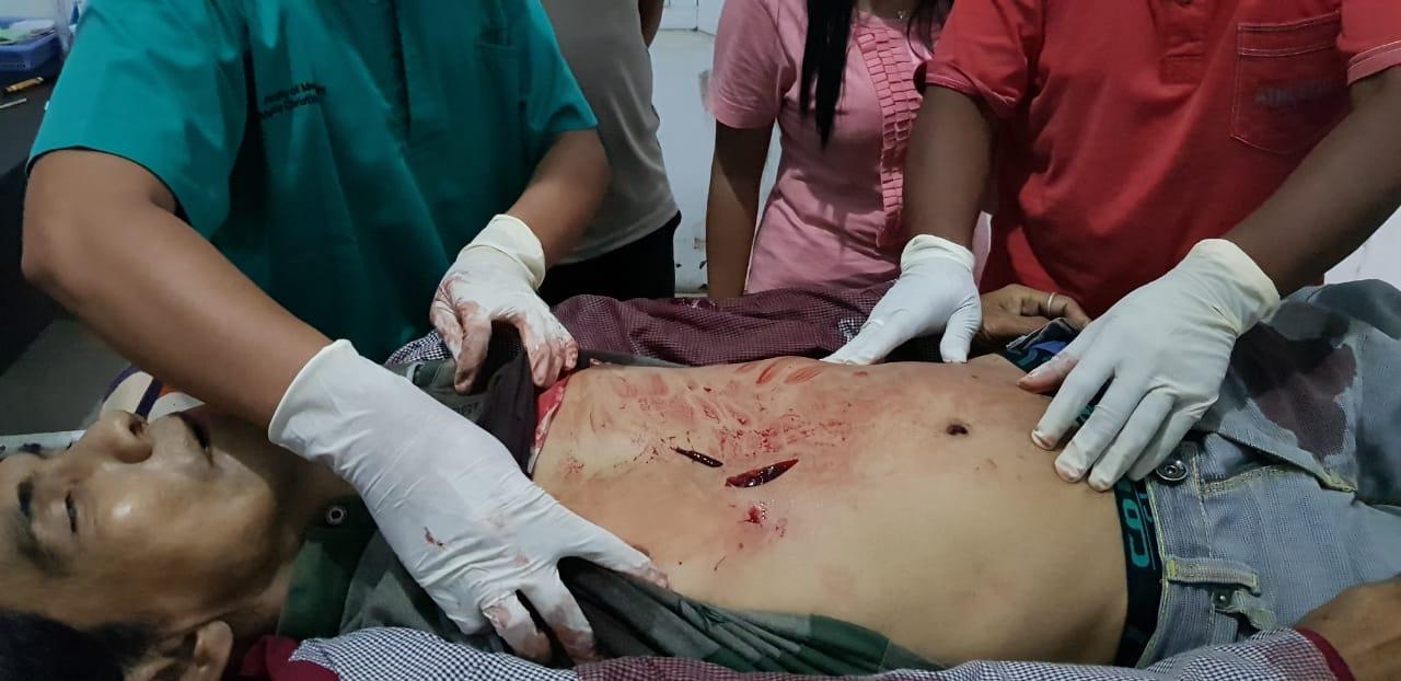 Korban di rumah sakit