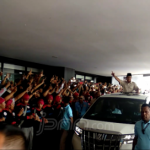 Ribuan Buruh Teriaki Prabowo 'Presiden, Presiden'
