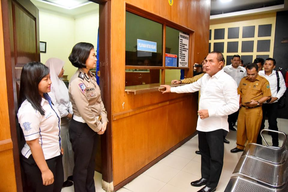 Gubernur Sumut Sidak ke Kantor Samsat