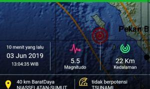 Nias Selatan Kembali Diguncang Gempa