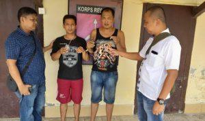 Foto : Kedua Pelaku saat diamankan