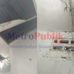 Foto : Plafon dan Tempat Wudhu Mushollah Milik Pelindo Rusak