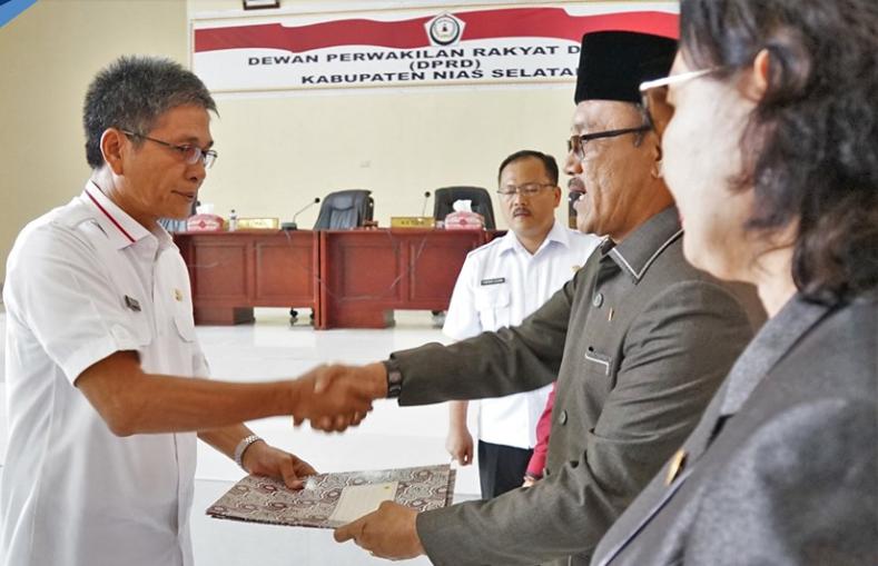 DPRD Nisel Gelar Paripurna Penetapan Ranperda P-APBD TA. 2019