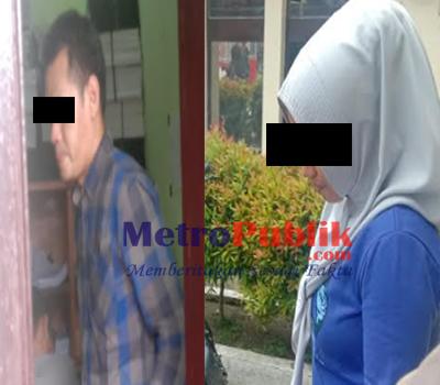Pasangan Yang Bukan Suami Istri Ini di Arak Ke Kantor Polisi