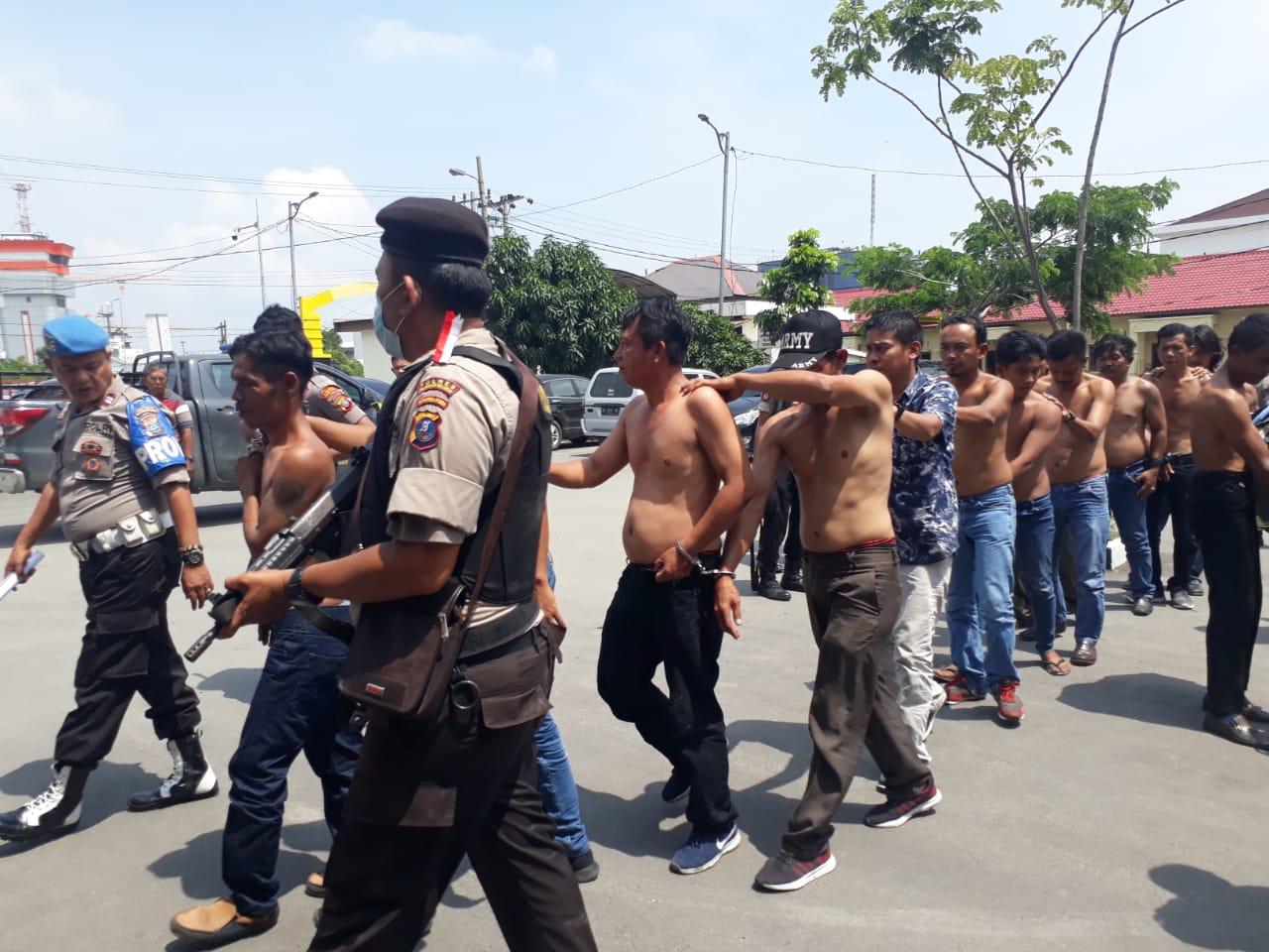 Diduga Rebutan Lahan, 13 OKP Diamankan Polres Pelabuhan Belawan