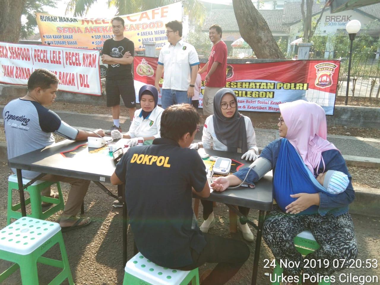 Biddokes Polda Banten Gelar Bakti Sosial Kesehatan