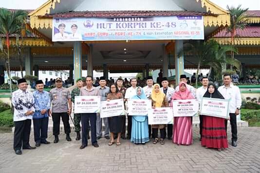 Hut PGRI, Wali Kota Bacakan Amanat Mendikbud