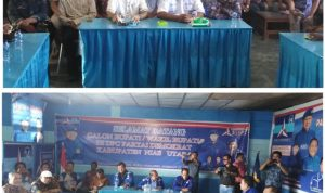"Bacalon Bupati & Wakil Bupati Nias Utara Pasangan ""AMAN"" Mendaftar Di Partai Demokrat"