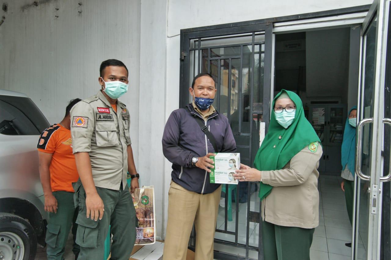 Pemko Medan Bagikan 10.500 Masker Gratis