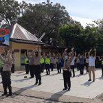 Polsek Medan Helvetia Melaksanakan Senam AWS3