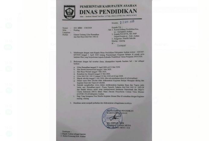 Kadis Kominfo Sampaikan Surat Edaran