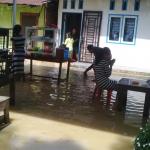 Sei Padang Meluap, Ratusan Rumah Terendam Banjir
