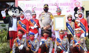 Kapolda Sumut Disambut Oleh Anak-Anak Perwakilan Kota Medan