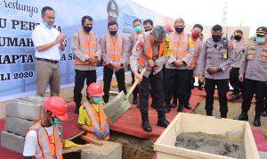 Kapolda Sumut Letakkan Batu Pertama Pembangunan Rumah Susun