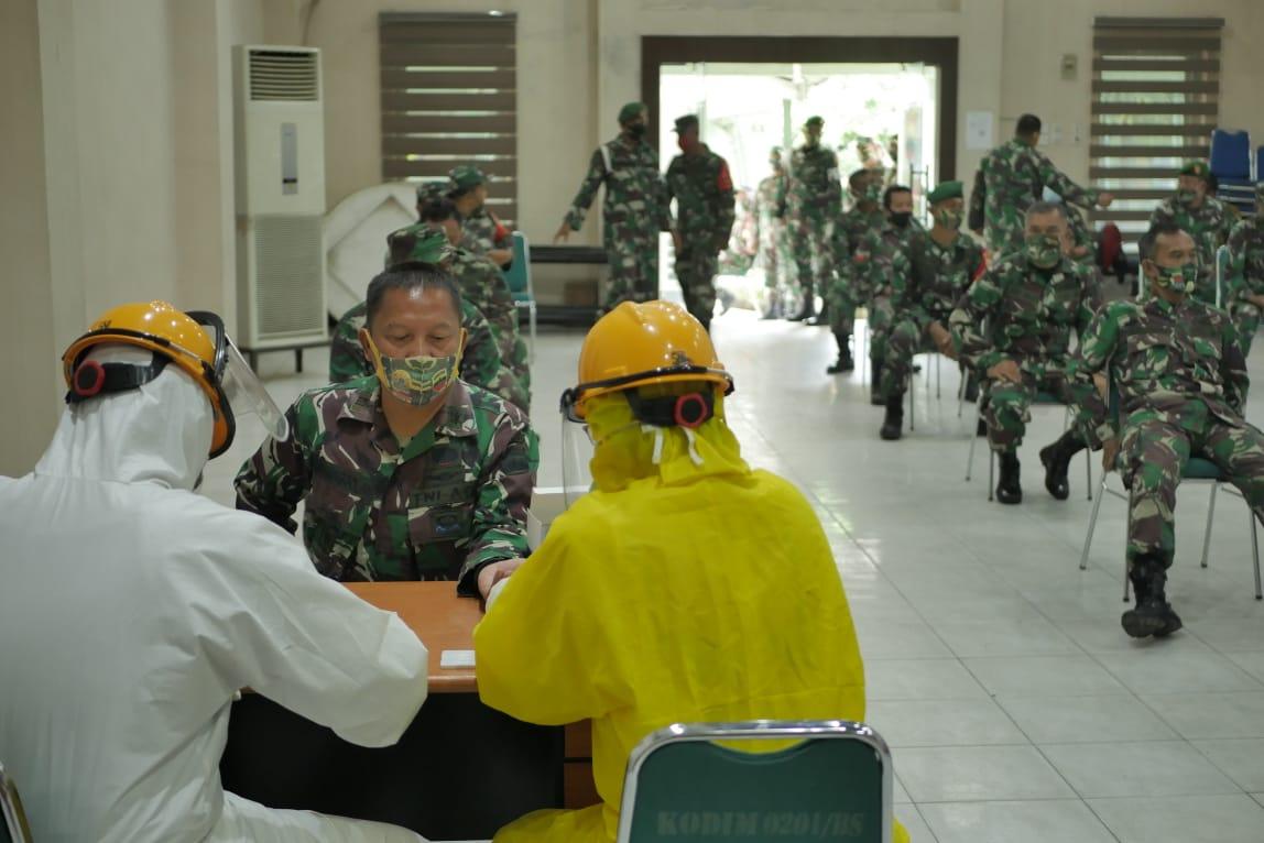 Pemko Medan Dukung Kodim 0201 BS Gelar Rapid Test