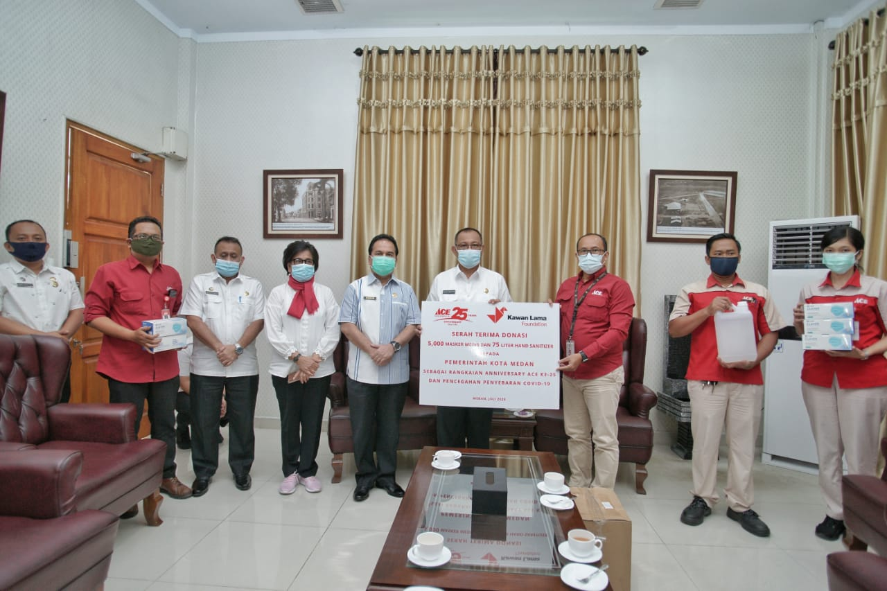 Pemko Medan Terima Bantuan 5000 Masker