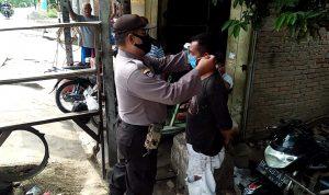 Polsek Binjai Patroli Bagikan Masker