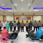 Sinergitas TNI - Polri Donor Darah