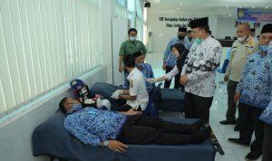 Peringati HUT ke-49, Korpri Kabupaten Asahan Gelar Gowes dan Donor Darah