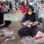 Sortir dan Pelipatan Surat Suara Pilkada 2020, KPU Medan Terapkan Prokes