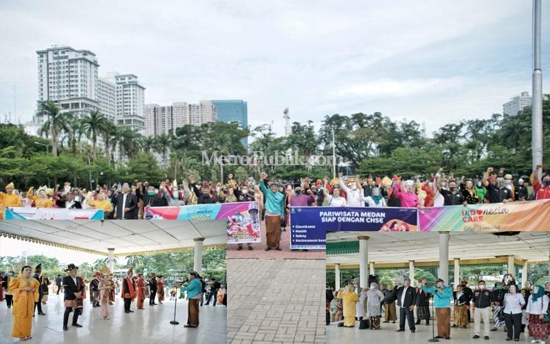 Dinas Pariwisata Kota Medan Deklarasikan Penerapan Prokes CHSE