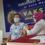 Hasyim yang Pertama di Vaksin Covid-19 di DPRD Medan