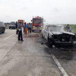 Mobil Milik Sekdis BPPRD Batubara Hangus Terbakar