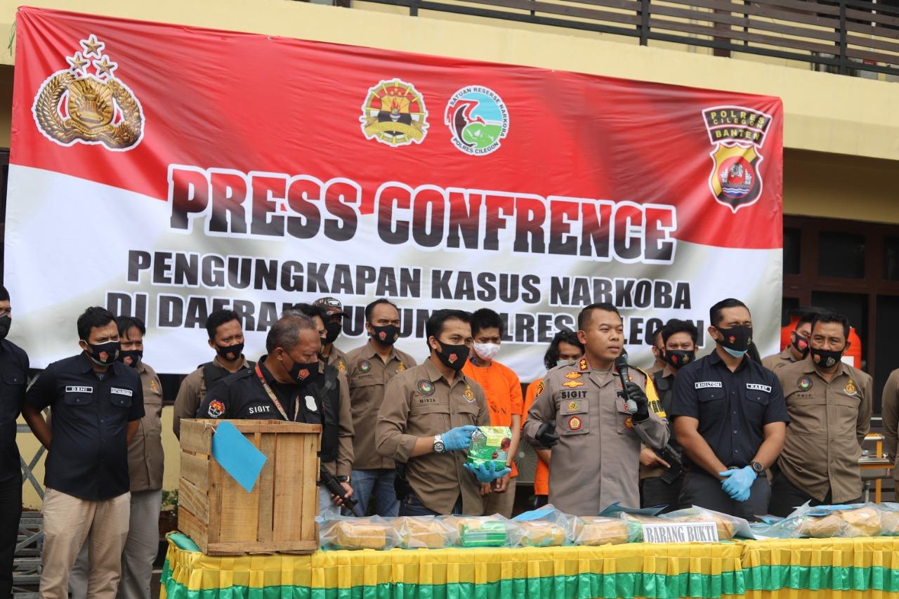 Polres Cilegon Tangkap Pengedar Narkotika Jenis Sabu-Sabu 13,8 Kg