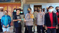 Kapolres Batubara Bagikan Masker Kepada Masyarakat