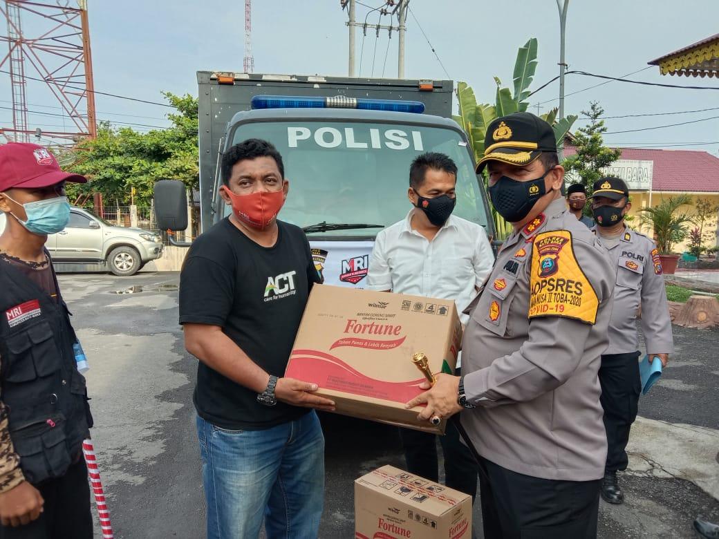 Kapolres Batubara Bersama Dengan MRI Lepas Bantuan ke Sulawesi Barat