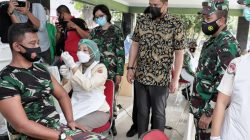 Wali Kota Medan Tinjau Vaksinasi Covid-19 Bagi Anggota Babinsa di Jajaran Kodim 0201/BS