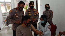800 Vaksin Covid-19 Disuntikan ke Personil Polres Batubara