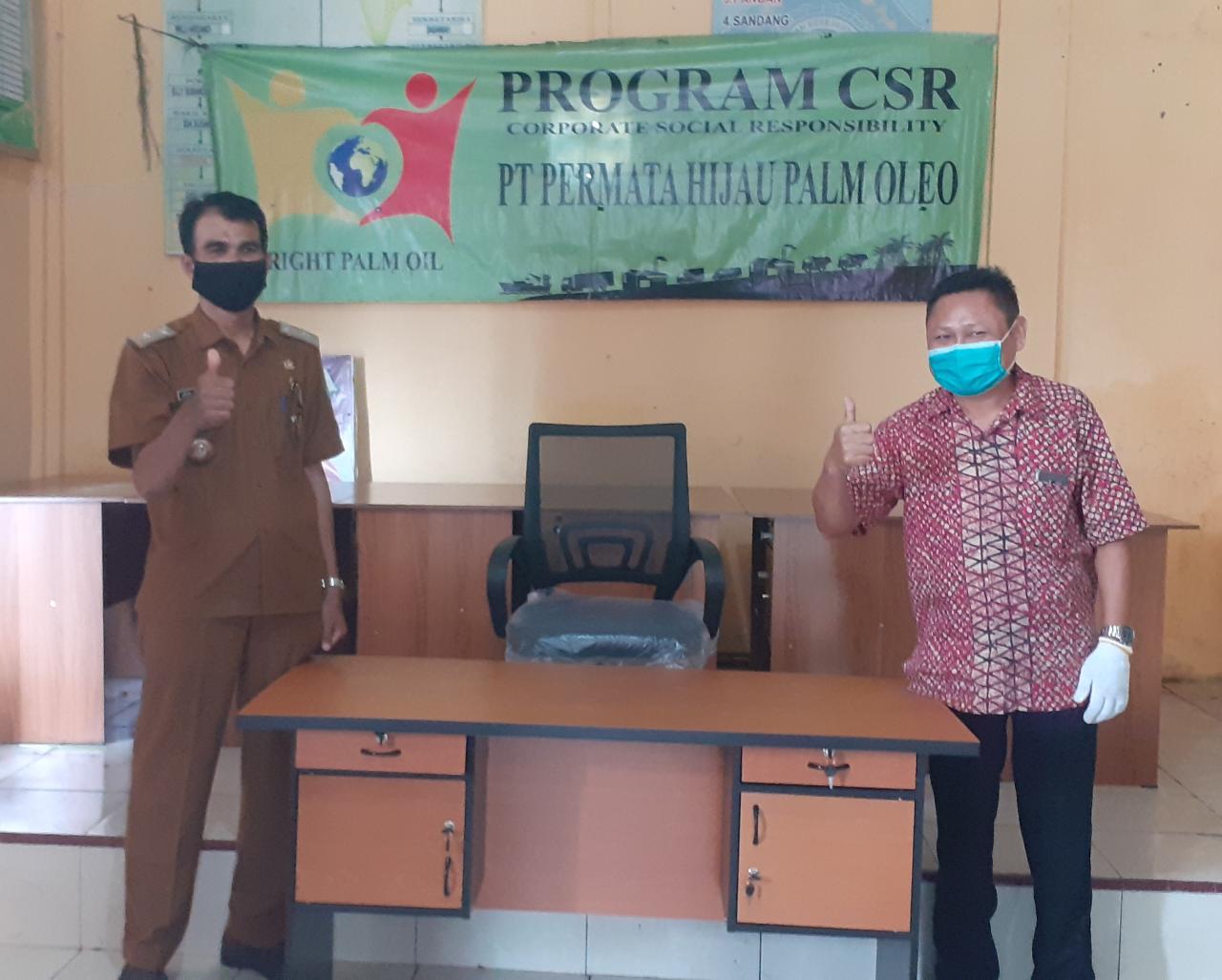 PT PHPO Salurkan CSR ke Lurah Bagan Deli