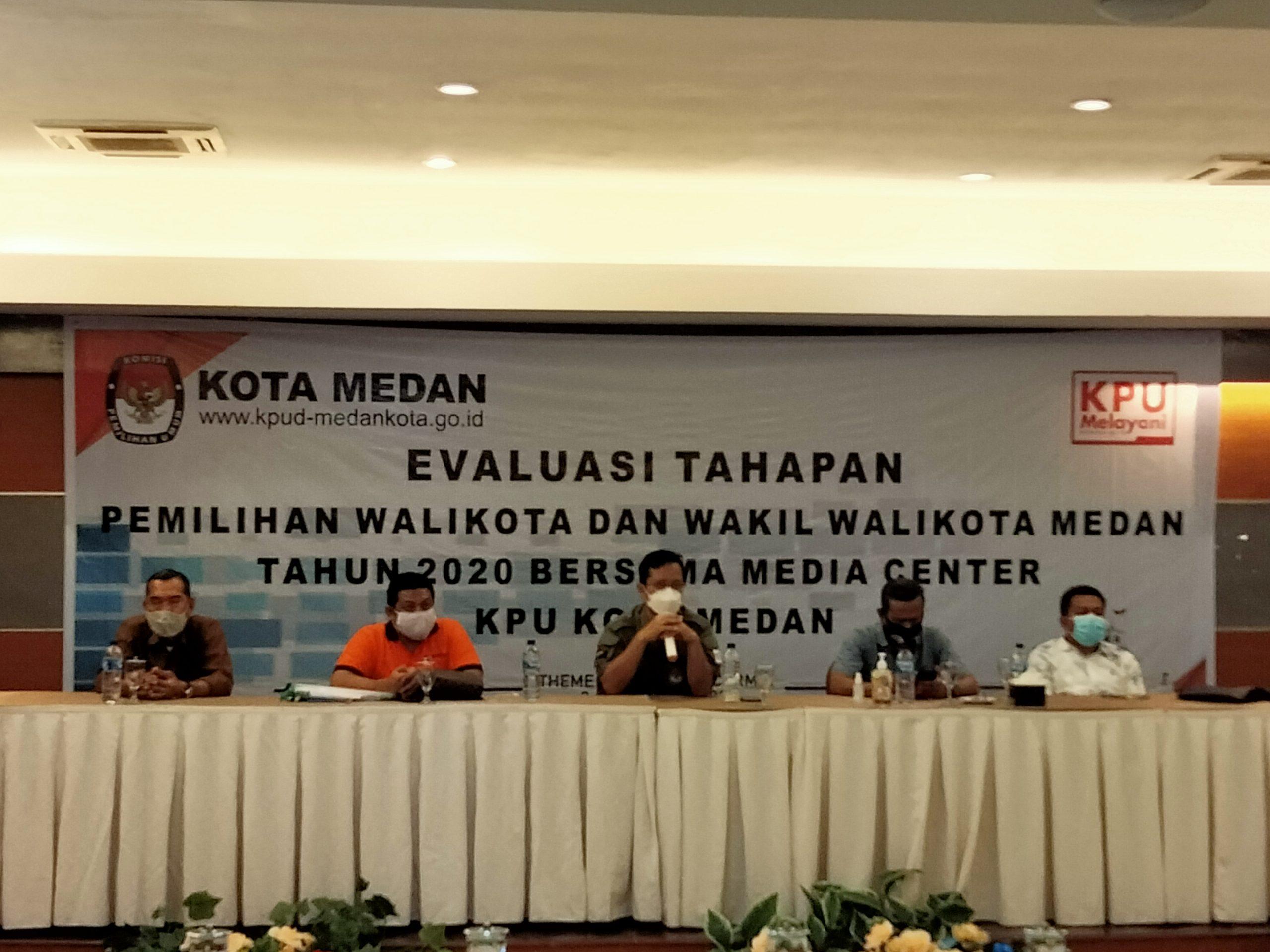 KPU Medan Dan Media Center Gelar Evaluasi Pilkada 2021