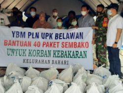 PLN-UPK Belawan Bantu Sembako Kepada Korban Kebakaran