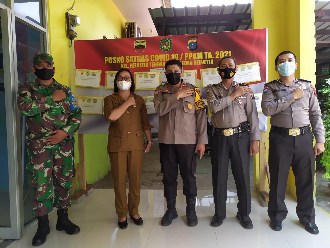 Sat Binmas Polrestabes Medan, Cek Kesiapan Posko Covid -19 di Wilayah Helvetia
