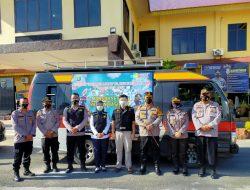 Polres Batubara Resmikan Pelepasan Mobil Vaksinasi Keliling