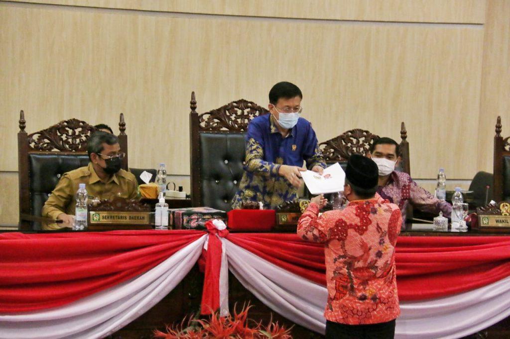 DPRD Medan Gelar Sidang Paripurna Soal Ranperda Pertanggung Jawaban Pelaksanaan APBD TA 2020