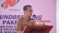 Bupati Nias Paparkan Profil Kabupaten Nias Kepada Gubernur Sumut