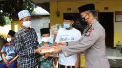 Peduli Pandemi dan Sambut Hari Bhayangkara ke-75, Polda Banten Bagikan Paket Sembako
