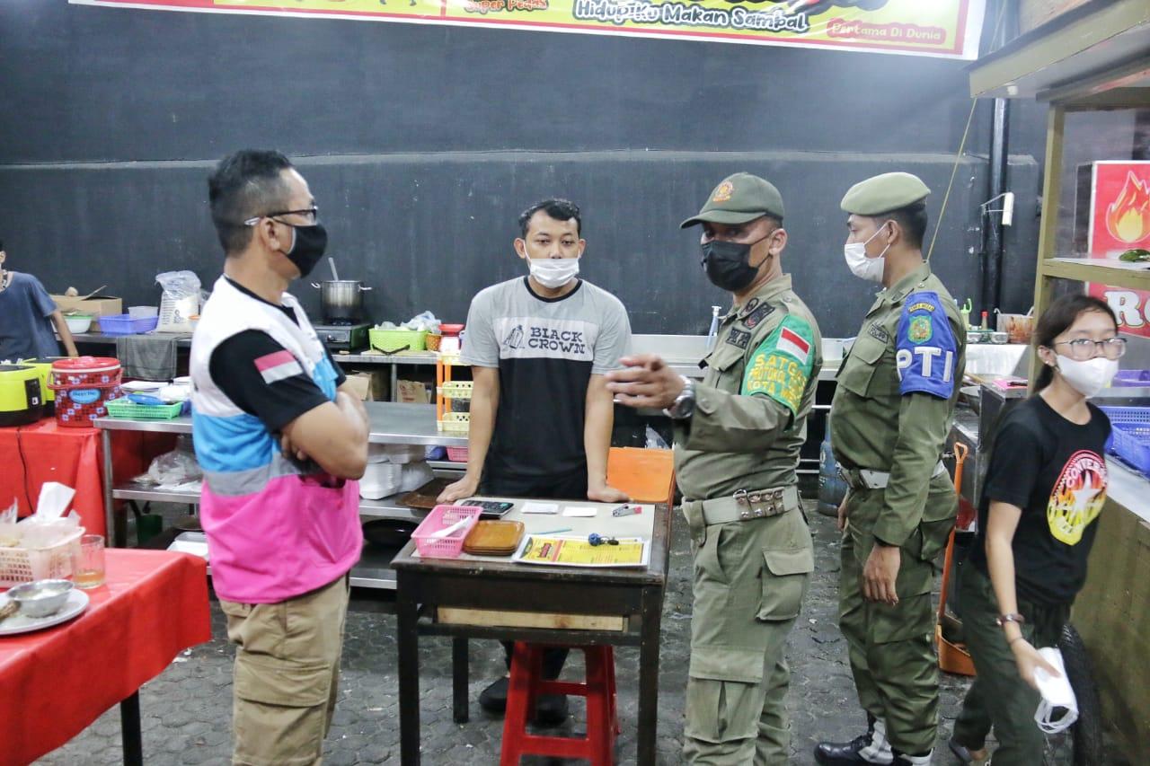 Pemko, TNI dan Polri Gelar Patroli Prokes Serta Pengawasan PPKM