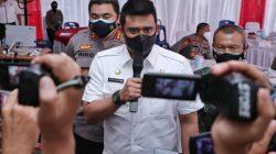 Bersama Kapoldasu, Wali Kota Medan Evaluasi PPKM Darurat