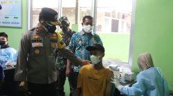 Bentuk Herd Immunnity, Polda Banten Gelar Vaksinasi di Pulau Panjang