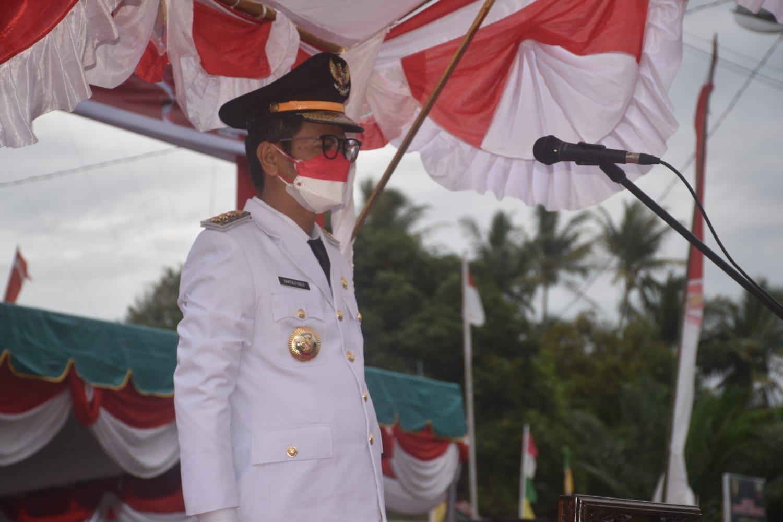 Bupati Nias Pimpinan Upacara HUT KEMRI KE-76 Tahun