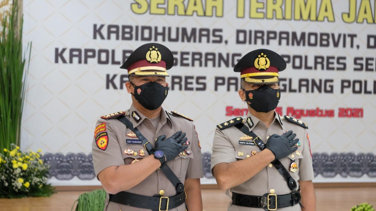 Kombes Pol Edy Sumardi Resmi Jabat Dirpamobvit Polda Banten