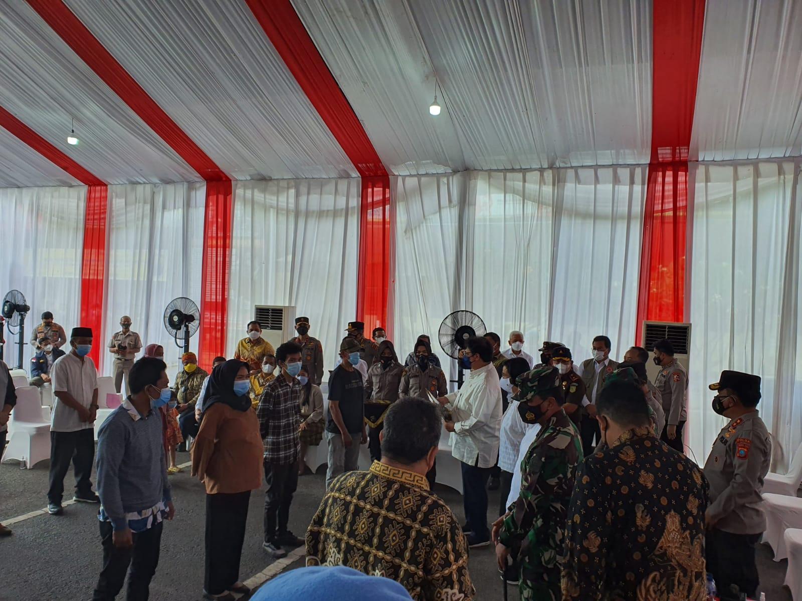Ketum Airlangga Hartarto Uji Coba BTPKLW Rp1,2 Juta di Polrestabes Medan