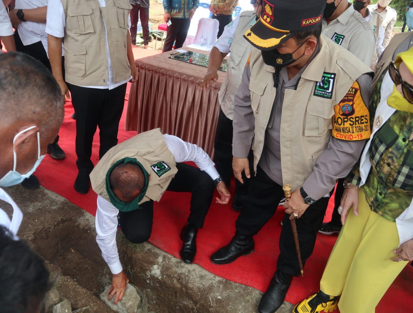 Gubsu Resmikan & Letakan Batu Pertama Pembangunan Kampung Sedekah KSJ di Batubara